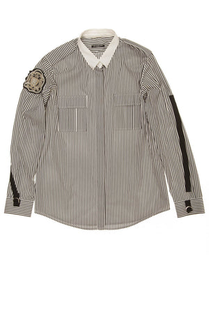 Balmain - Gray Striped Button Up Shirt - FR 40