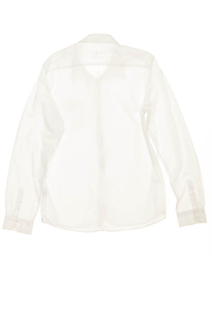 Escales - White Long Sleeve Button Up Blouse - L