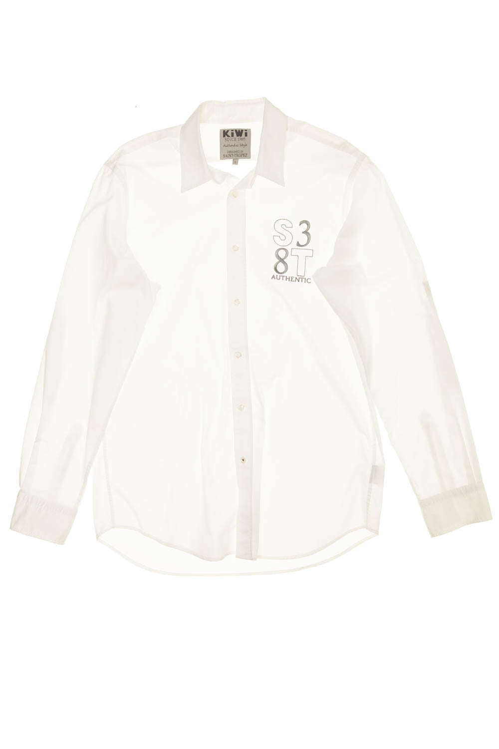 KiWi - White Long Sleeve Button Up Blouse - L - $45
