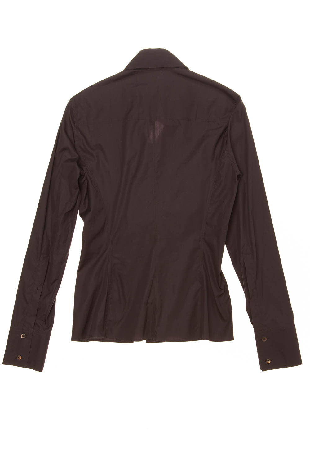 6671a20791d56a Iconic Tom Ford for Gucci - Eggplant Long Sleeve Button Up Blouse with Bow  - IT