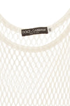 Dolce & Gabbana - White Mesh Tee Top - IT 40