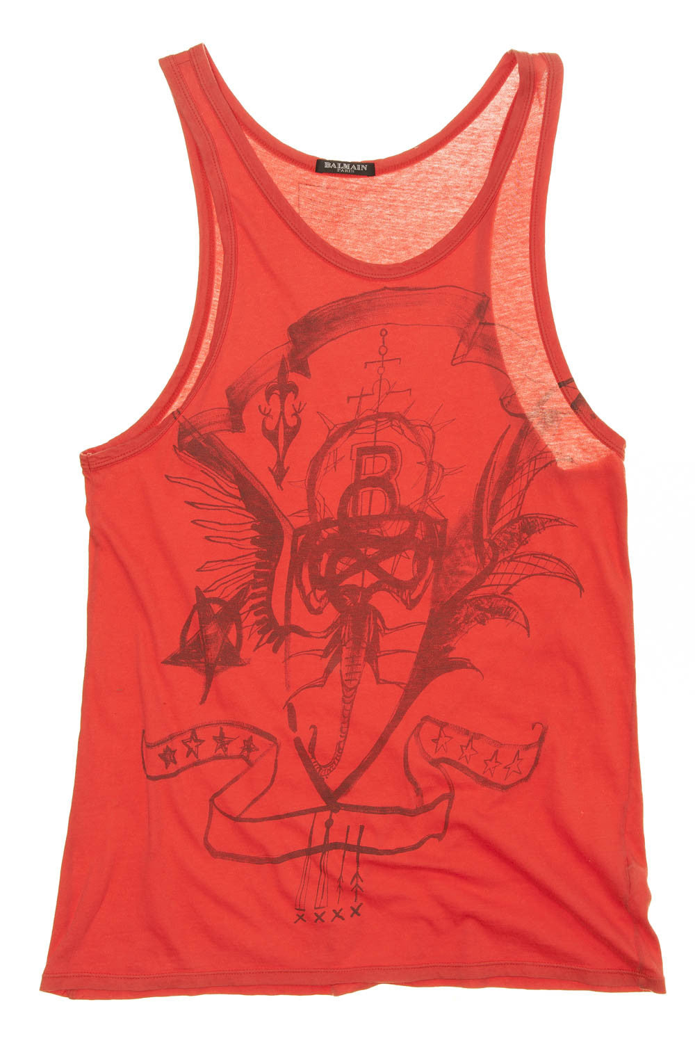 Balmain - Red Tank Top - FR 40