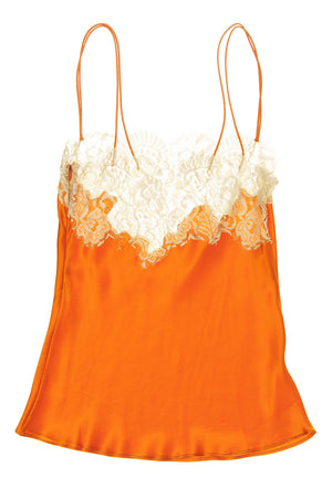 Dolce & Gabbana - Orange Lace Trim Camisole - IT 40