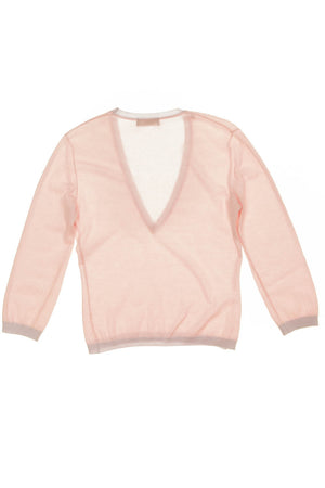 Versace - Pink Baby Cashmere Long Sleeve Sweater - IT 40 - $275