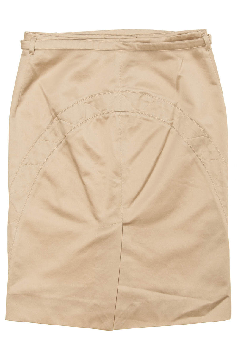 Calvin Klein - Beige Satin Skirt - IT 42