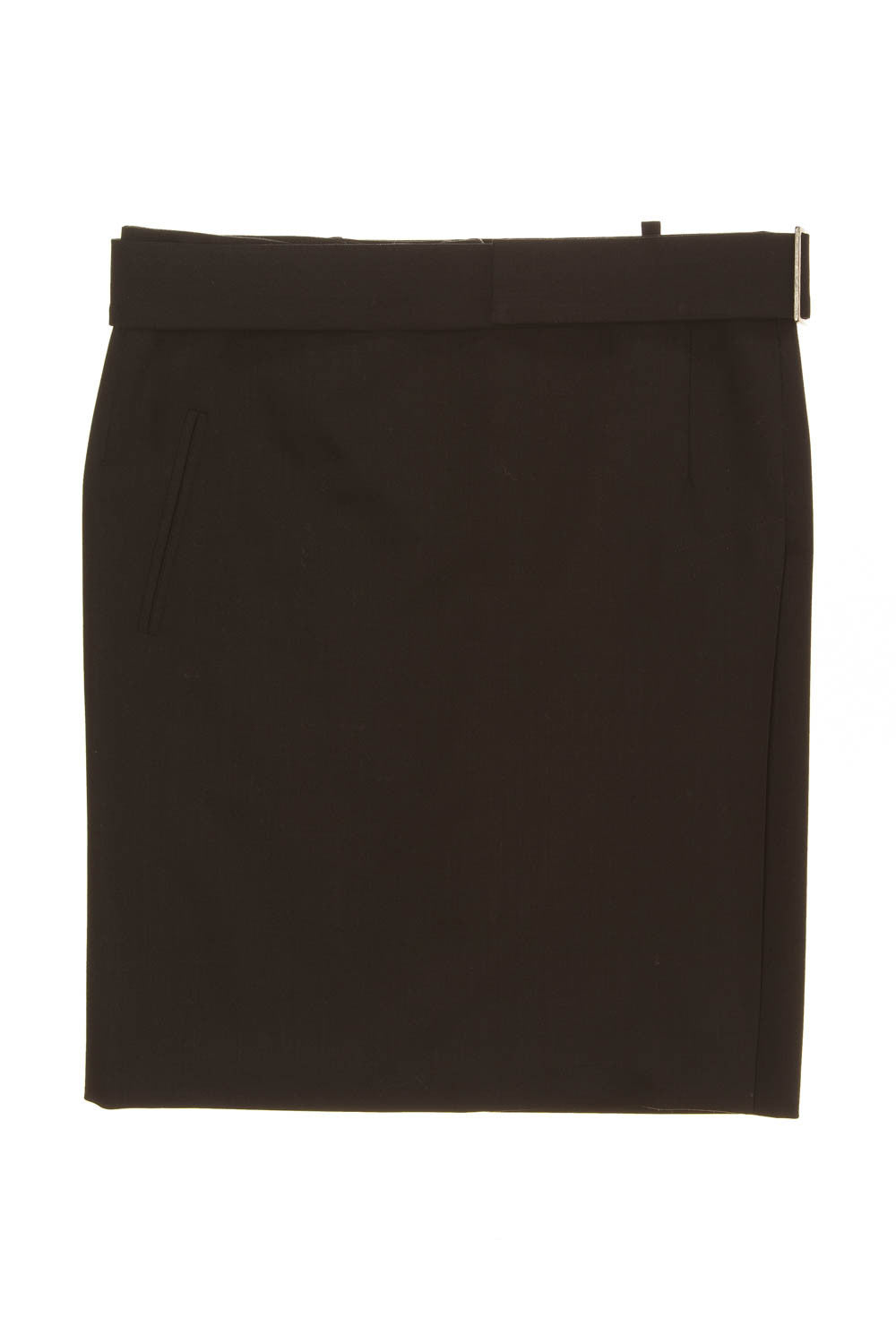 Costume National - New with Tags Black Mini Skirt with Belt  - IT 42