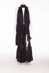 Roberto Cavalli - Midnight Blue Long Gown with Ostrich Fringe Scarf - IT 42