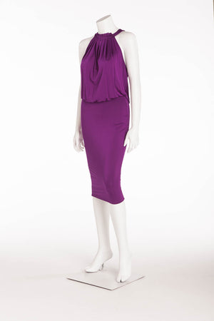 Iconic Tom Ford for Gucci -Pleated Top Sleeveless Purple Dress - S