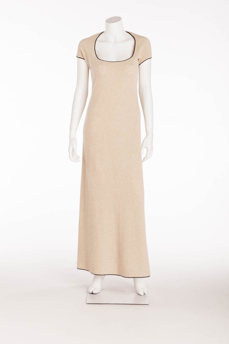 Narciso Rodriguez - Beige Cashmere Long Dress - IT 40