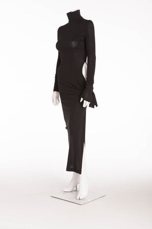 Dolce & Gabbana  - Long Sleeve Black Dress with Side Slit - IT 40