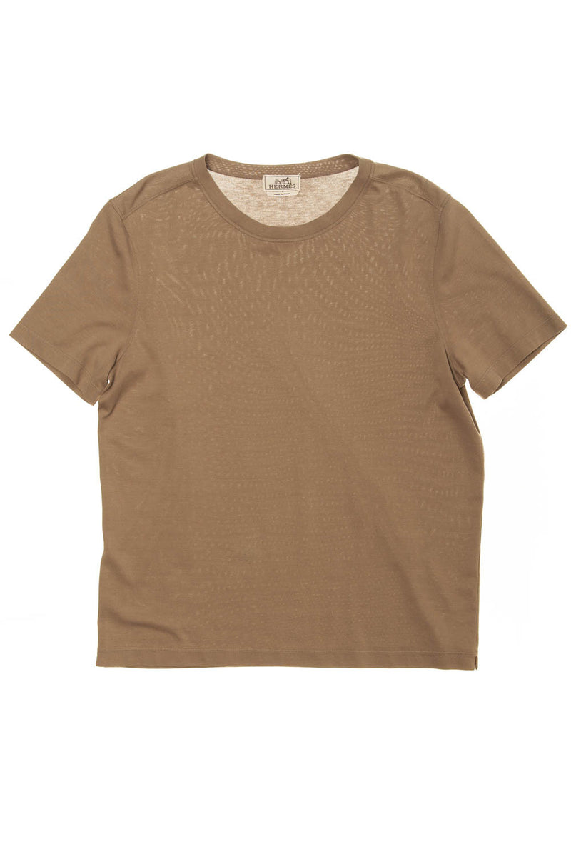 Authentic Hermes - Beige Short Sleeve TShirt