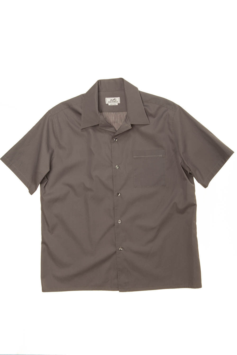 Hermes - Grey Short Sleeve Men's Shirt - IT 42