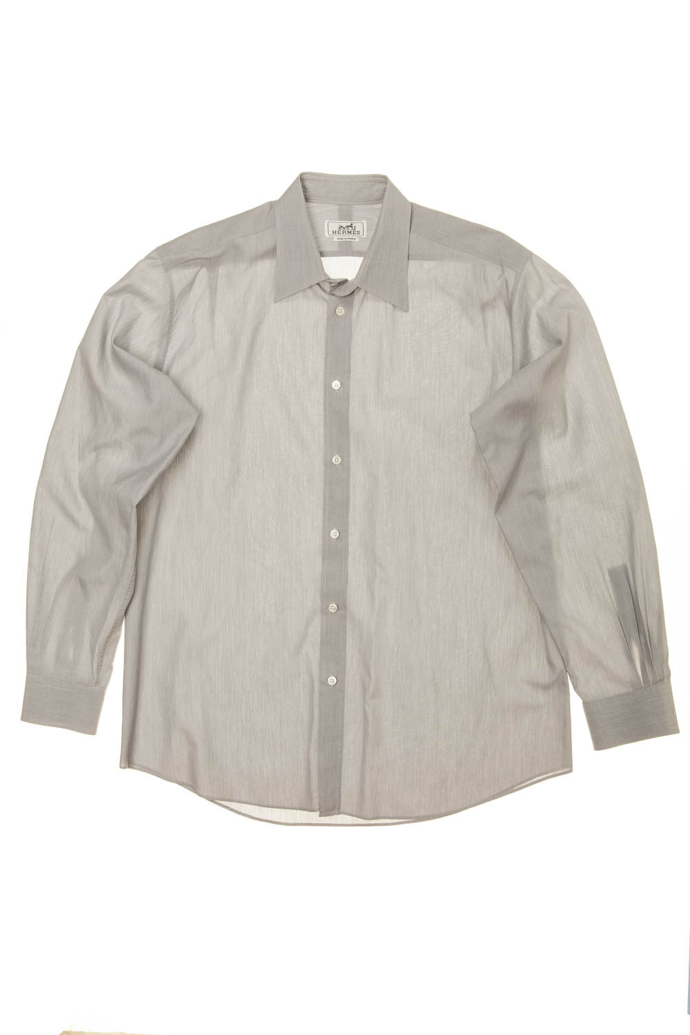 Hermes - Light Grey Men's Dress Shirt - IT 42