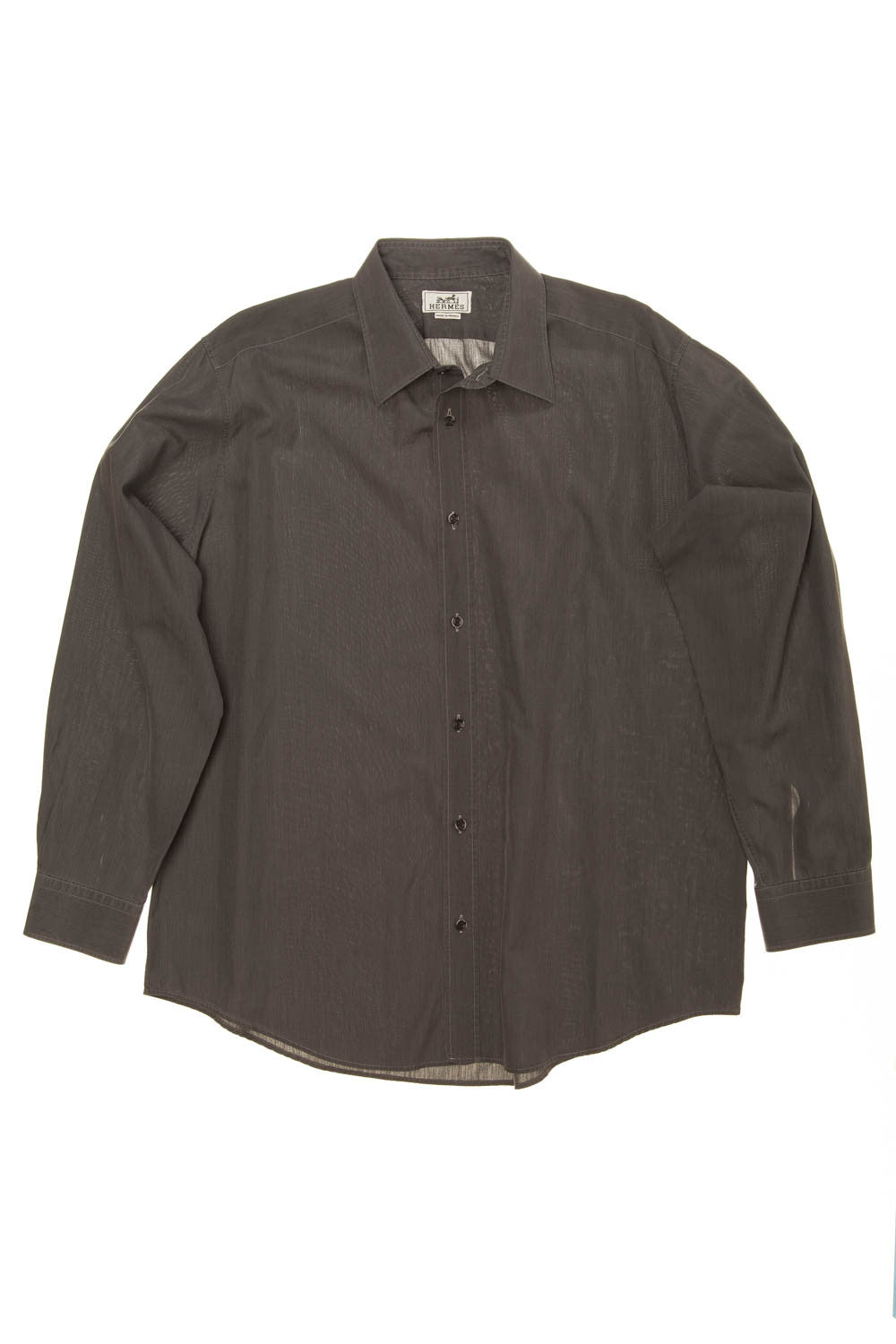 Hermes - Dark Grey Men's Dress Shirt - IT 42