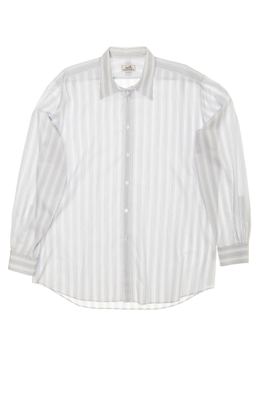 Hermes - Light Blue Dress Shirt with Stripes - IT 44