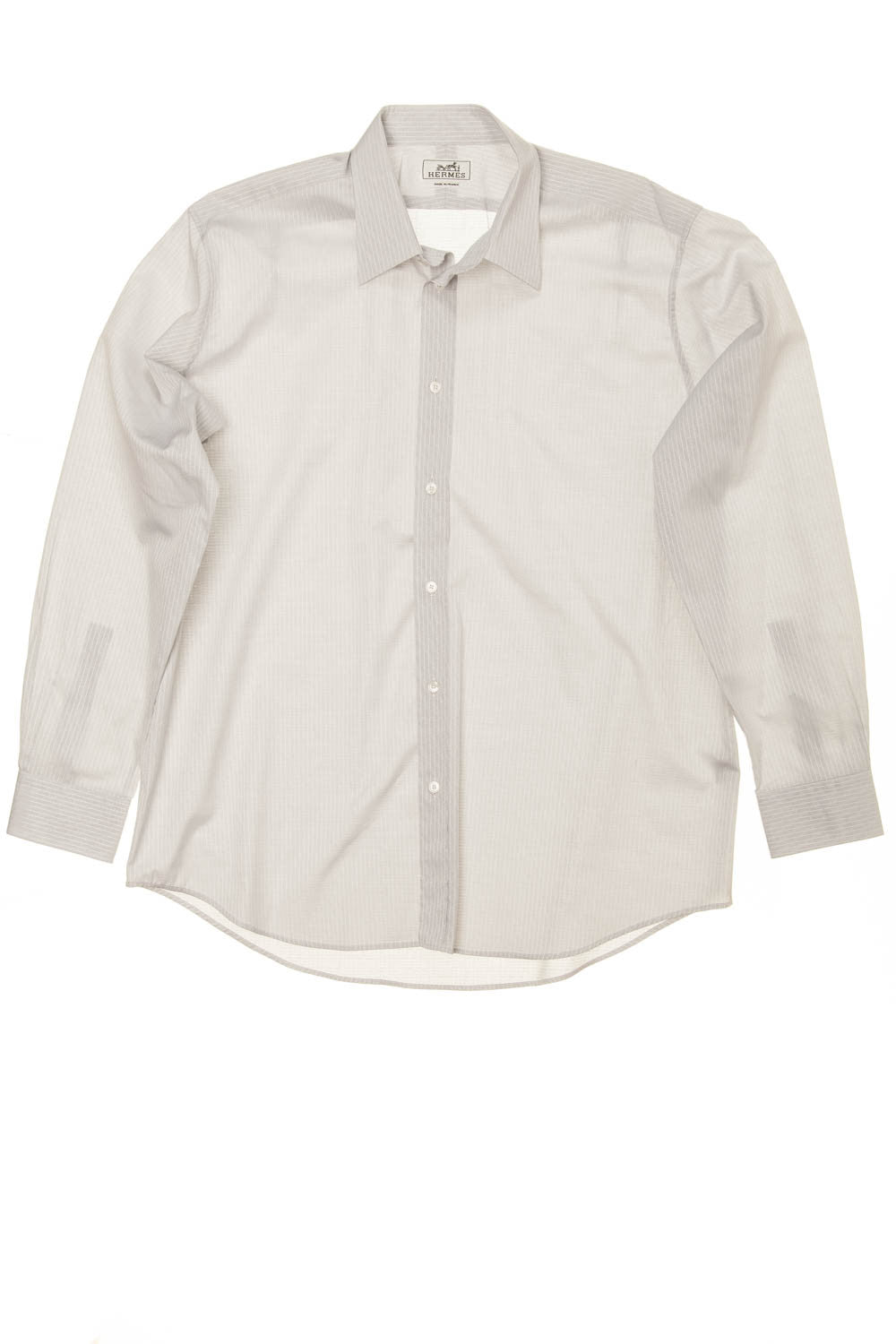 Hermes - Grey Button Up Dress Shirt - IT 43
