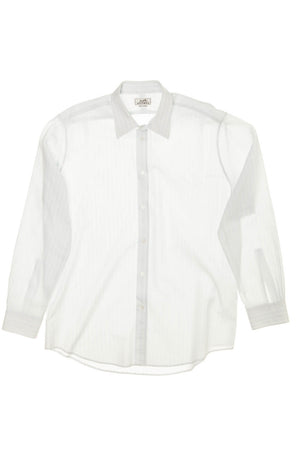 Hermes - Light Blue Dress Shirt with White Stripes - IT 43