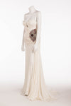 Roberto Cavalli - As seen on Victoria Beckham - White Silk Dress with Jewels - IT 40