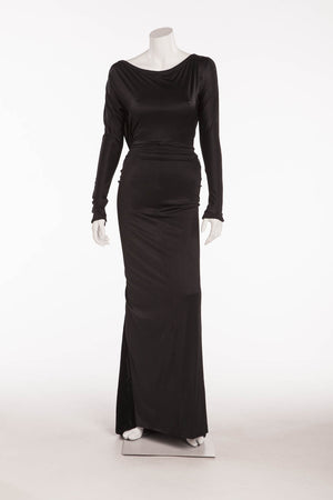 Gianfranco Ferre - Black Beaded Gown- IT 40