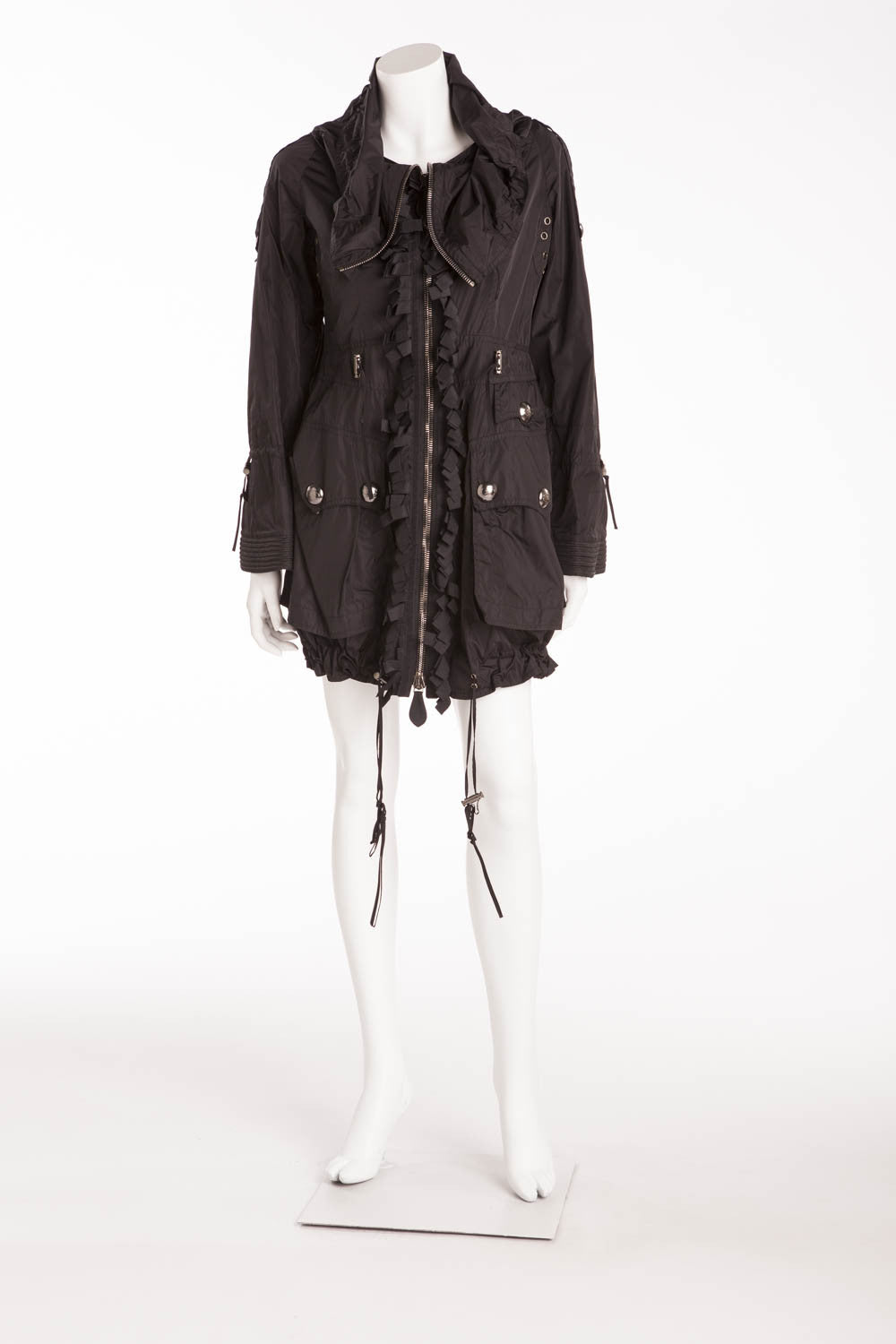 Burberry - As Seen on the 2007 Runway Collection, Black Zip Up Coat - IT 40