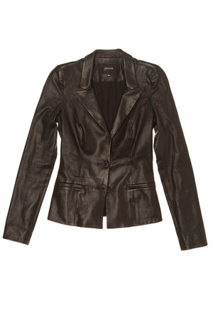 Jitrois - Black Leather Jacket - FR 38