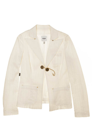 Moschino - White Long Sleeve Jacket - IT 44