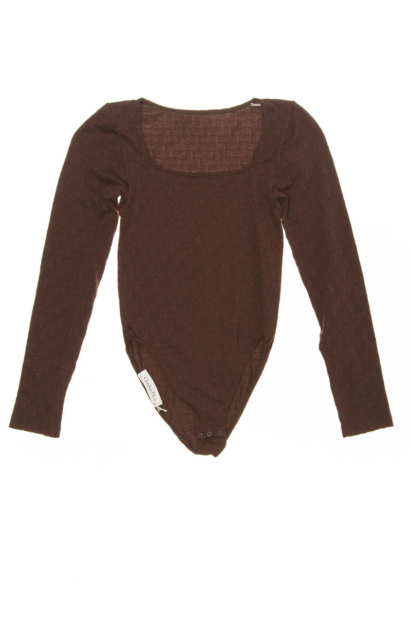 Christian Dior - Burgundy Long Sleeve Body Suit - FR 38