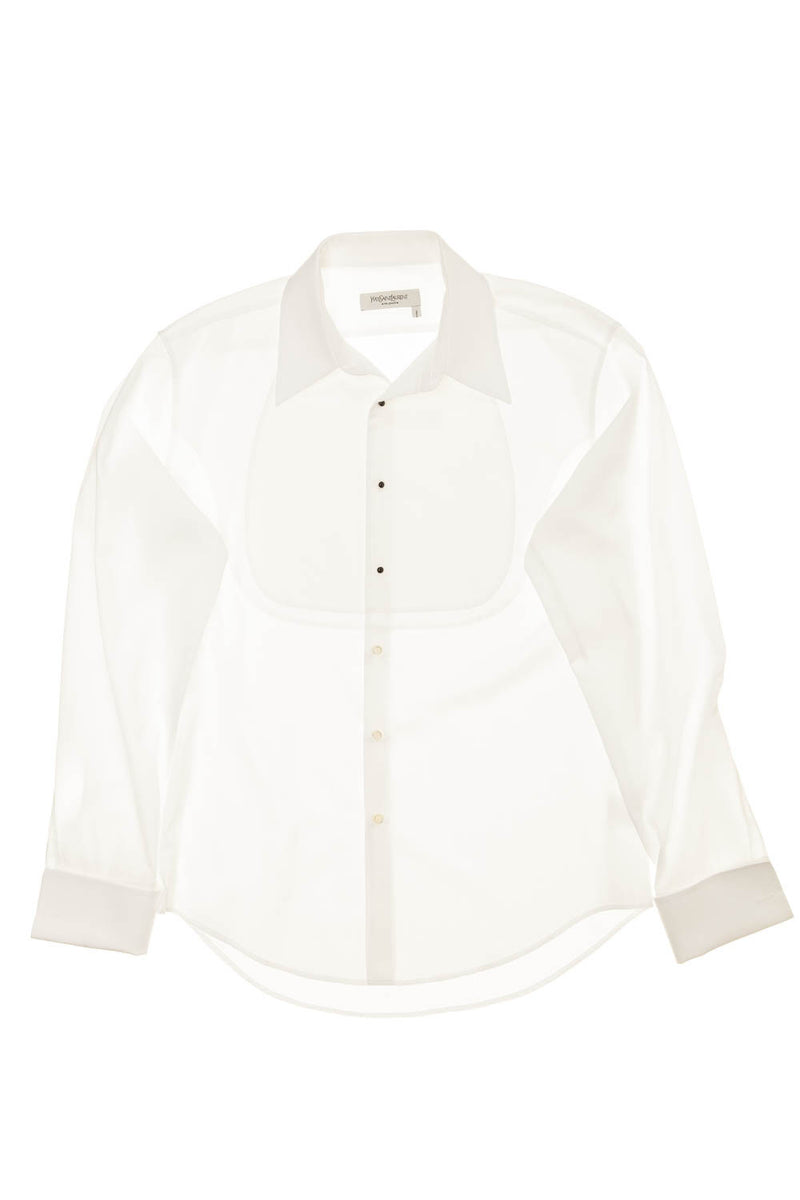 YSL  - Mens Tuxedo White Button Down - IT 44/17 1/2