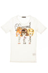 Dsquared2 - White Short Sleeve Graphic and Embroidered Tee - M