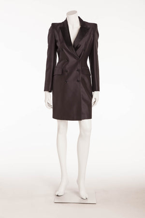Original Alexander McQueen - Black Long Sleeve Coat Dress - IT 42