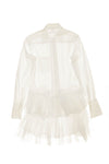 Jean Paul Gaultier - White Long Sleeve Top/Dress with Lace & Ruffles - IT 40