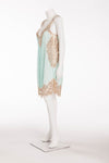 Blumarine - 3PC Mint & Beige Dress Size IT 42 with Cardigan Size IT 40 and Belt Size Medium