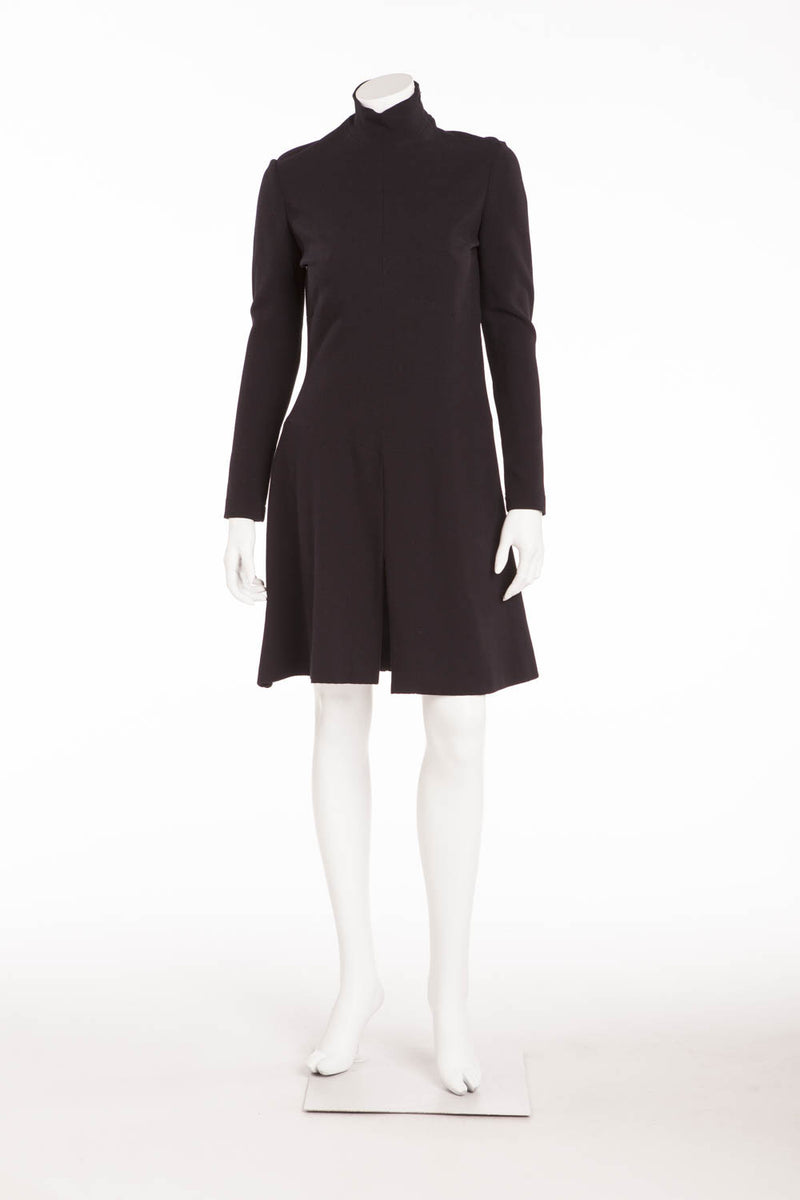 Chanel - Long Sleeve High Neck Dress - FR 38