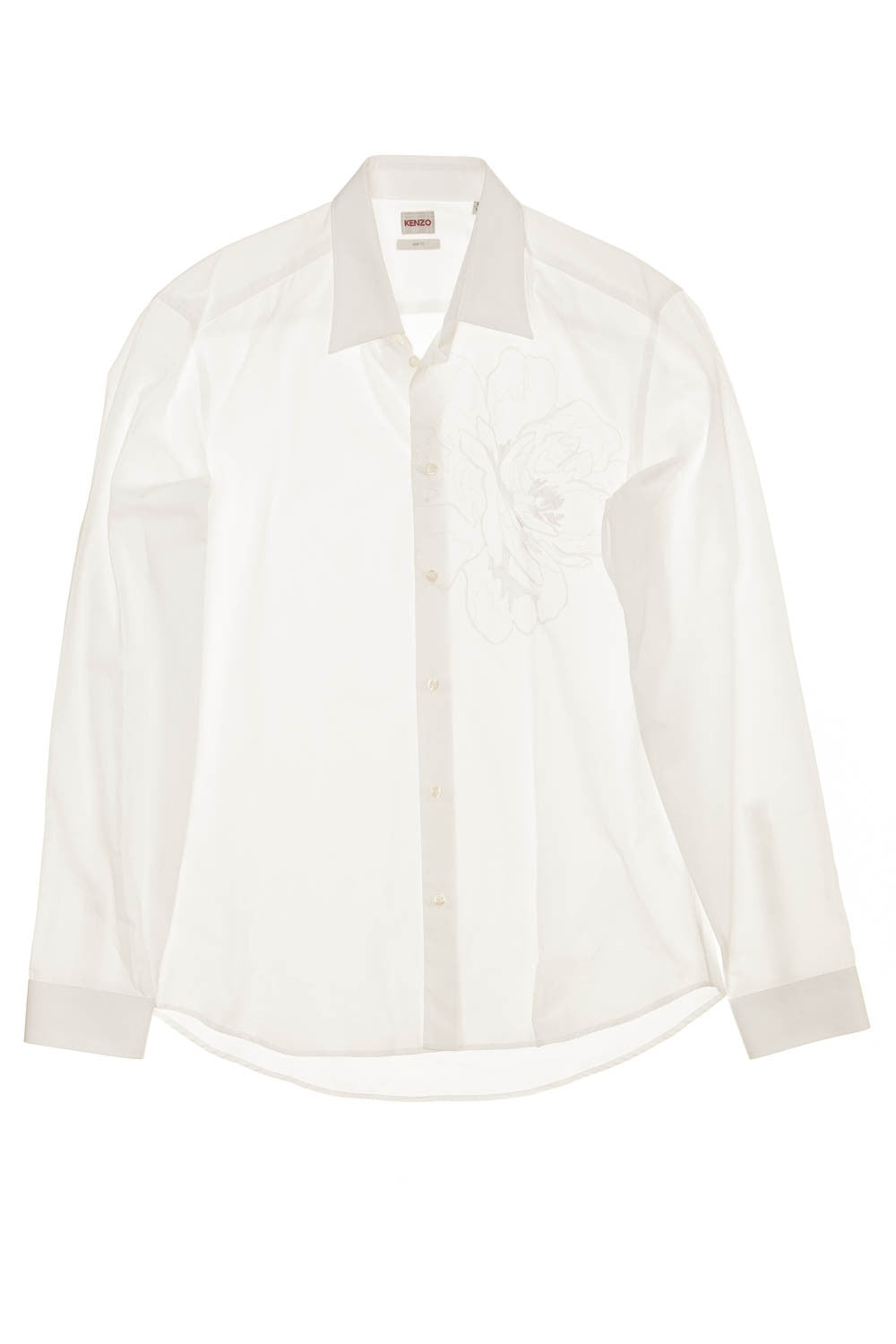 Kenzo - BN White Button Down with White Embossed Design - IT 41