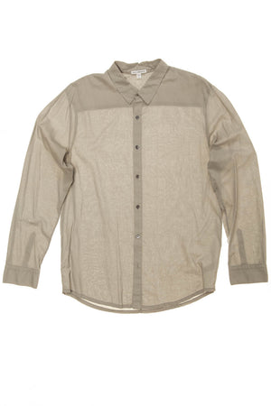 James Perse - Long Sleeve Gray Button Down - 3