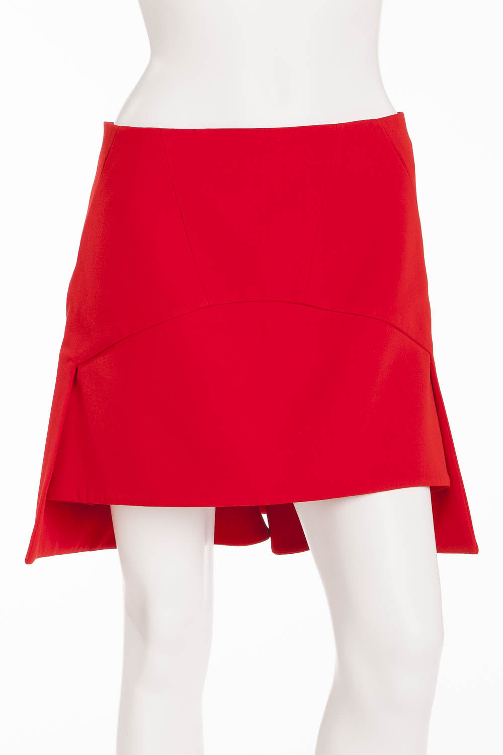 Givenchy - Red Asymmetrical Mini Skirt - FR 38