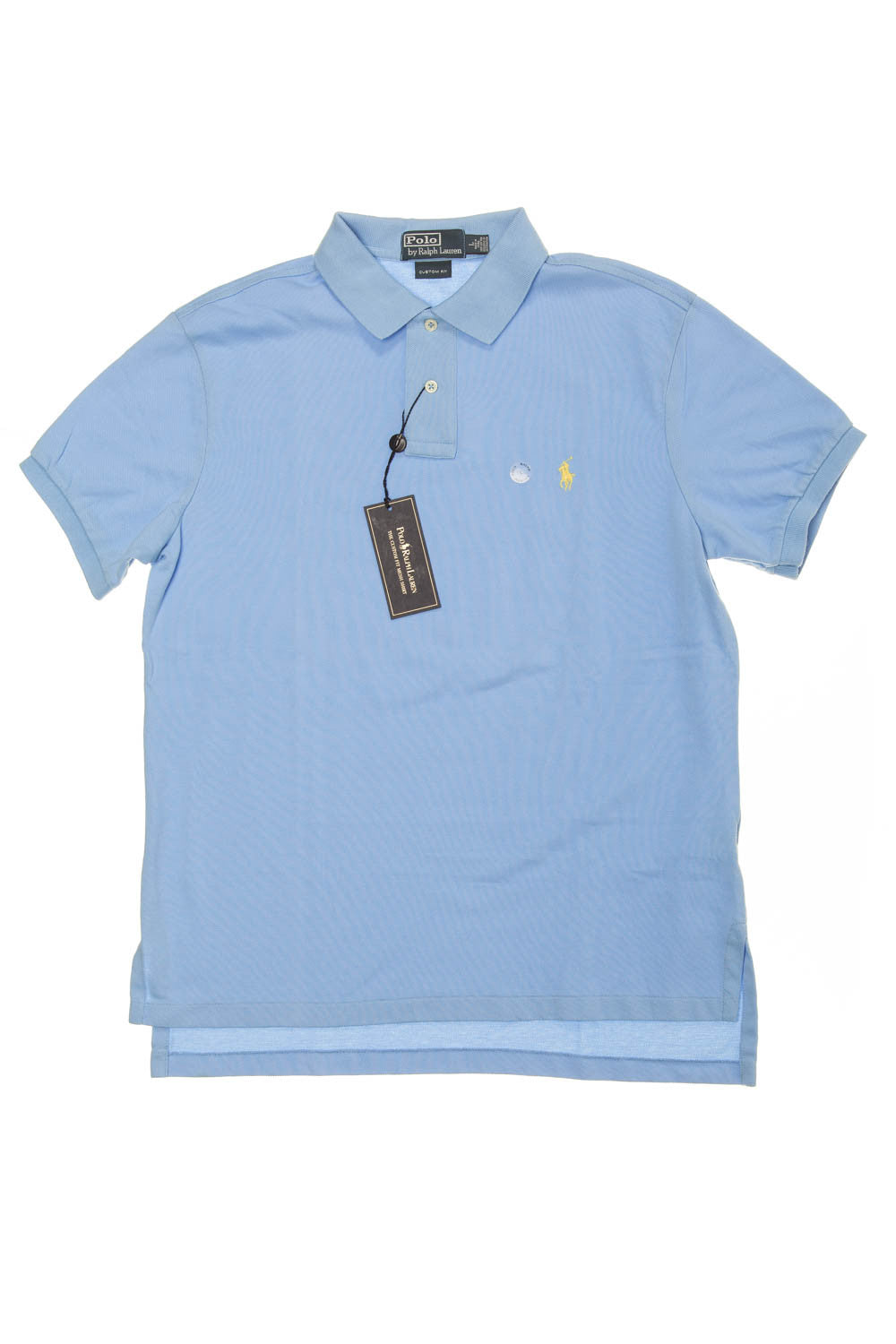 Ralph Lauren - New with Tags Baby Blue Short Sleeve Polo - L