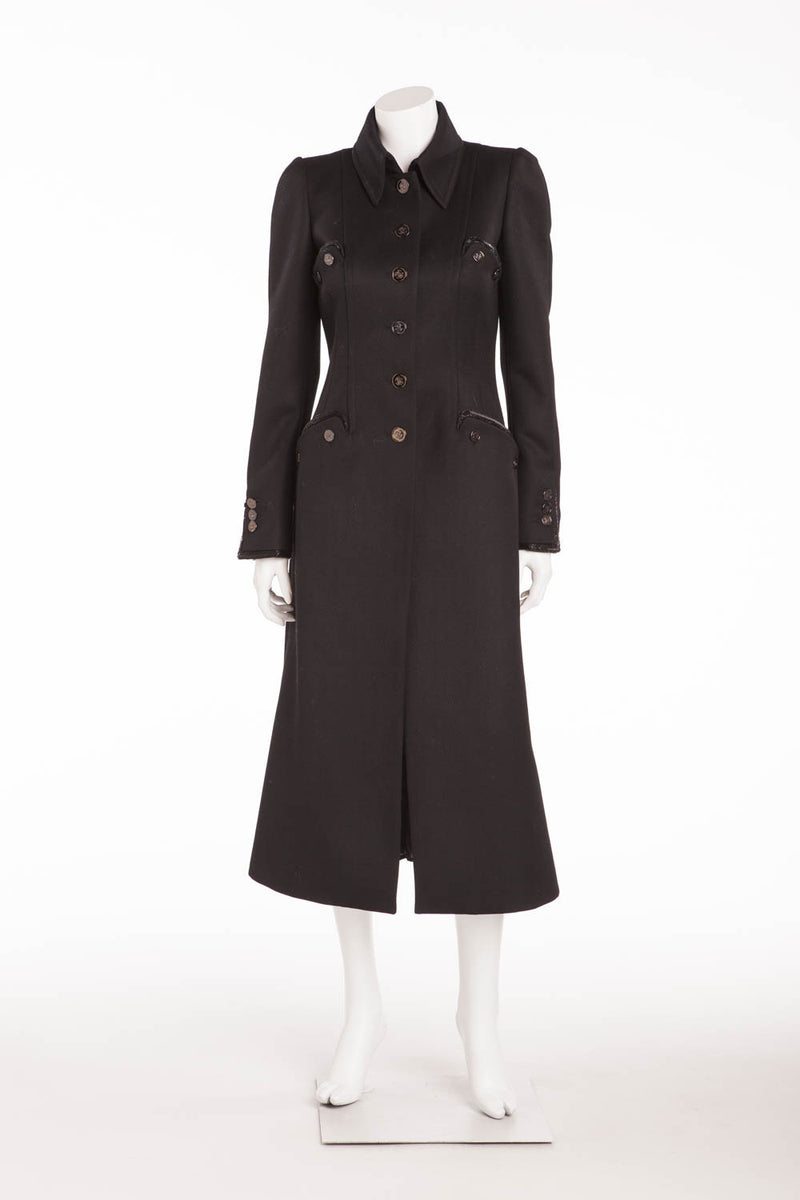 Roberto Cavalli - Long Sleeve Black Coat -IT 42