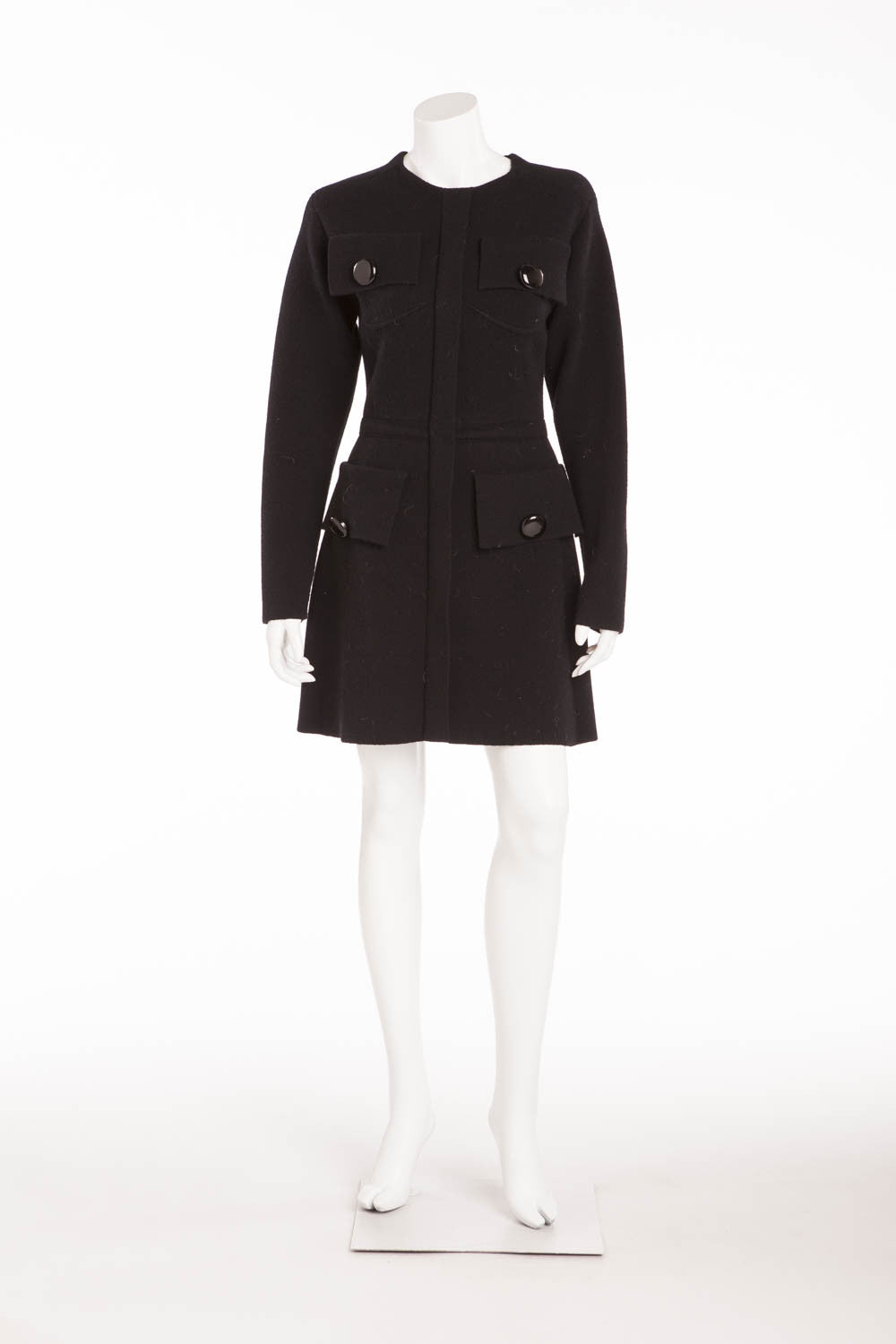 Louis Vuitton - Black Long Sleeve Mini Dress - M