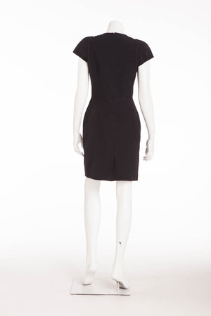 Original Alexander McQueen - Short Sleeve Navy Mini Dress - IT 42