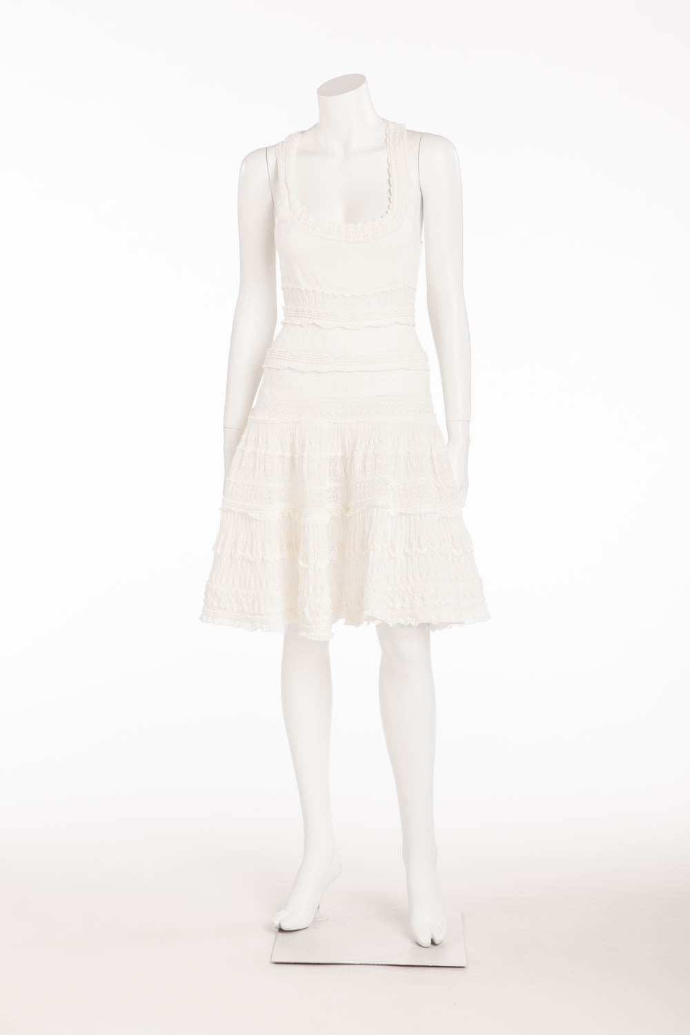 Alaia - White Short Cocktail Summer Dress - FR 38