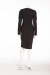 Chrisitan Dior - 2PC Black Long Sleeve Dress with Skinny Belt