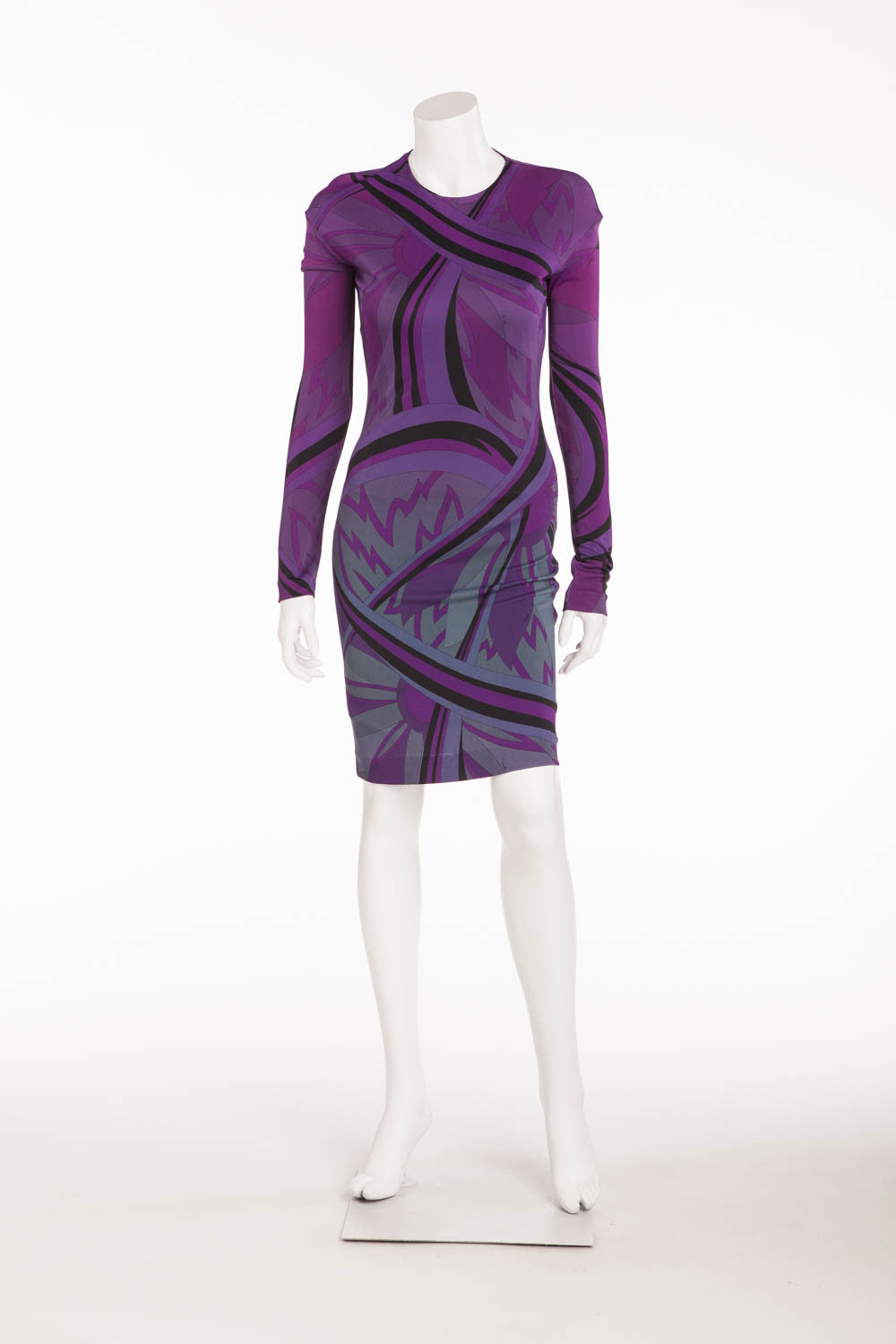 Emilio Pucci - NWT Long Sleeve Purple Mini Dress - IT 42
