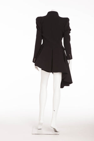 Original Alexander McQueen - Asymmetrical Black Long Sleeve Coat - IT 40