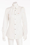 Dsquared2 - BN White Collared Long Sleeve Gold/Pearl Pin - IT 44