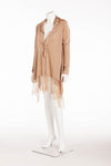 Valentino  -  Lace -trimmed wool-blend  Cardigan with  - L