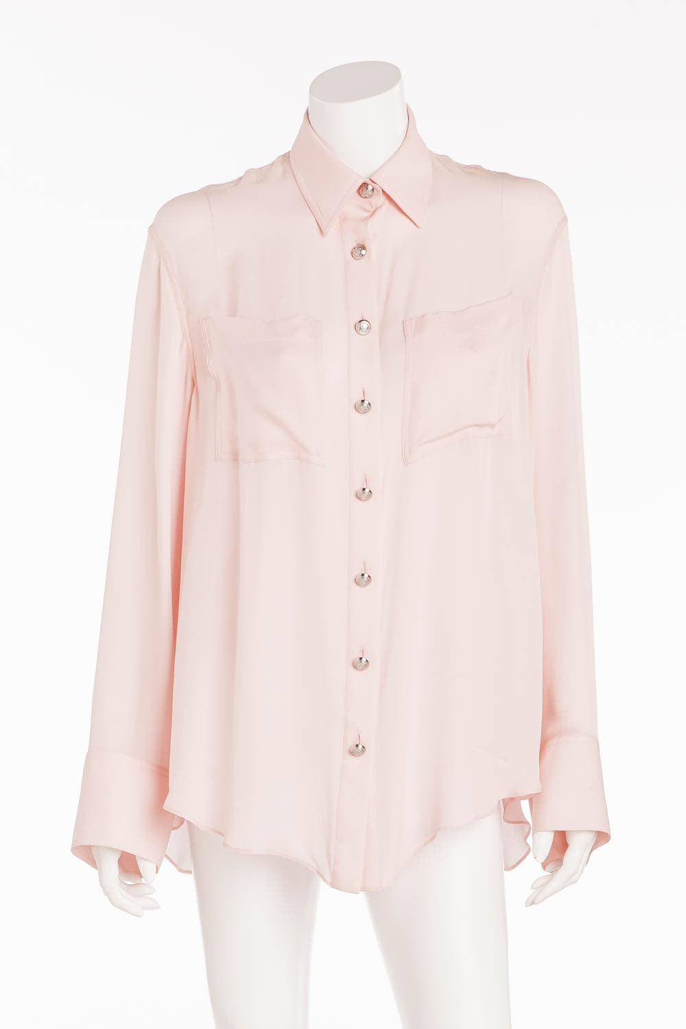 Balmain - Brand New Long Sleeve Pink Button Up Shirt - FR 38