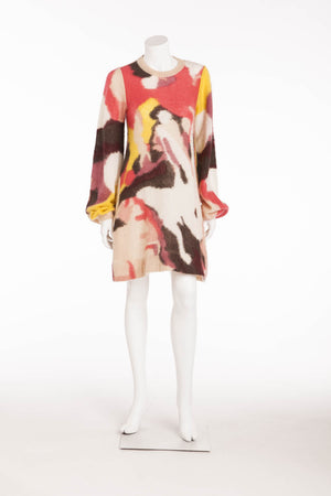 Sonia Rykiel - Multicolor Long Sleeve Sweater Dress with Pockets - FR 38