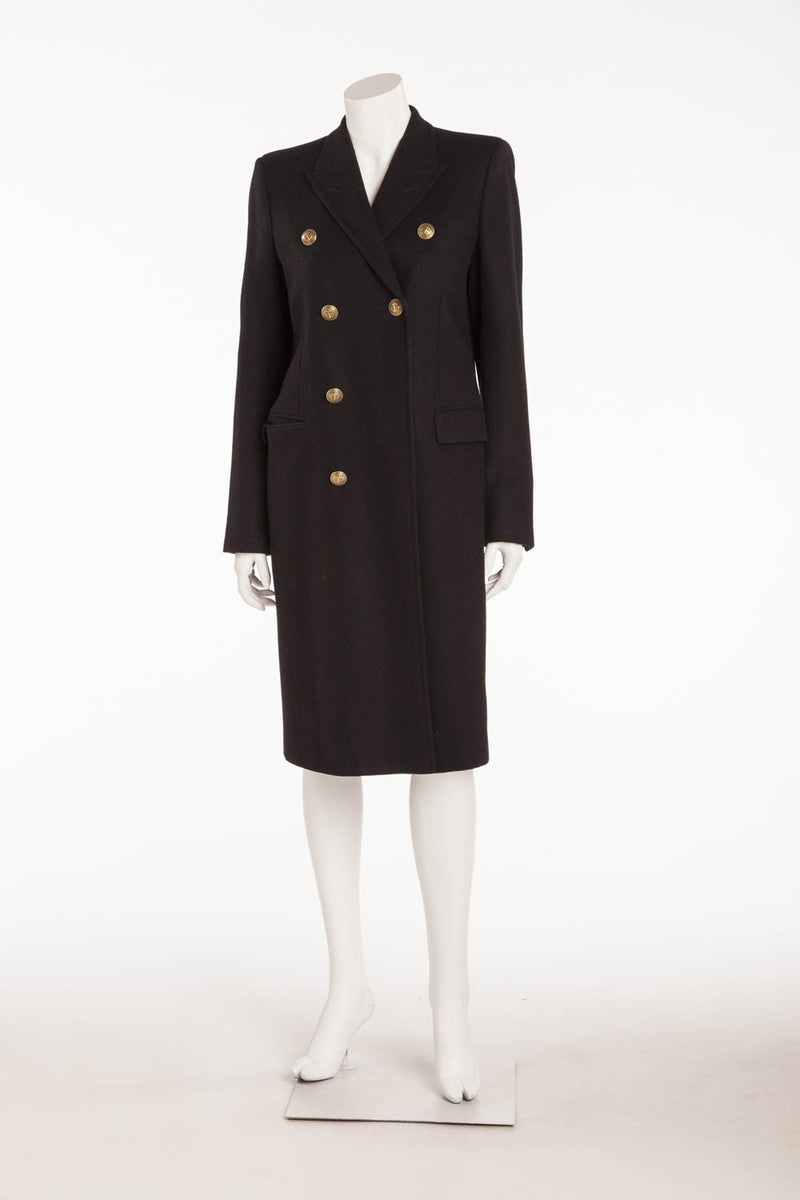 Saint Laurent - Navy Wool Trench Coat - FR 40