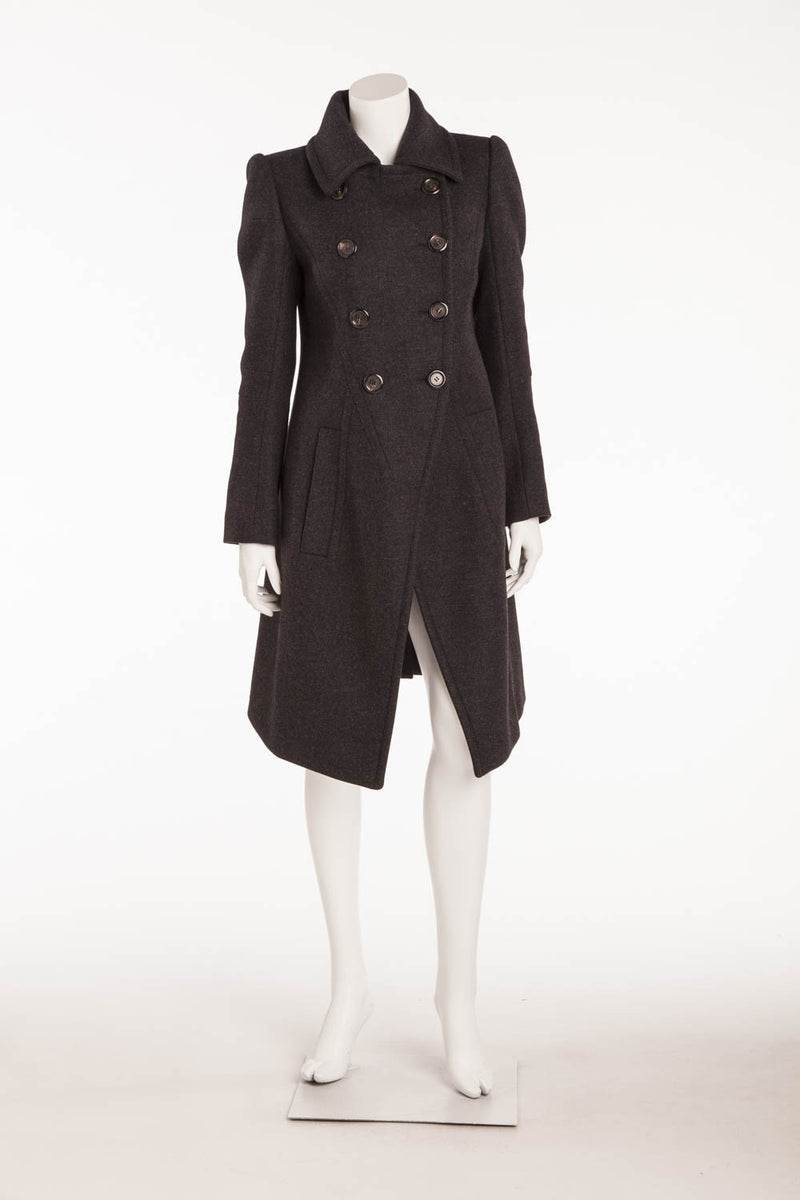 Louis Vuitton - Dark Gray Button Up  Coat - FR 38